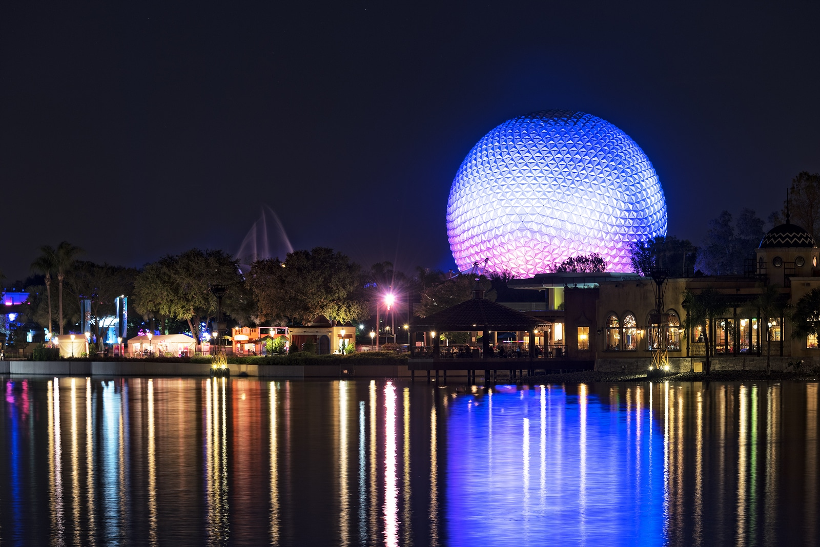 The Spaceship Earth Sphere at Epcot Center