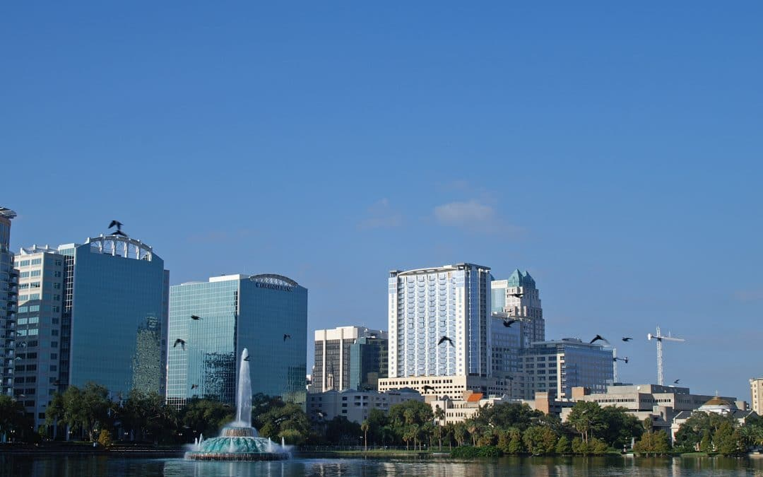 Downtown Orlando Florida Skyline