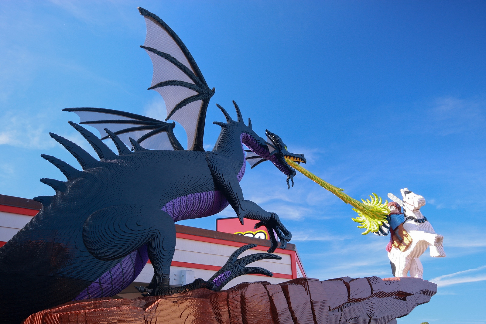 Dragon at Lego zone of Downtown Disney by Forte Concierge Network
